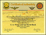 Certificate of Authenticity from HMM-774